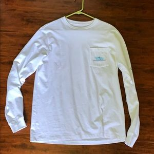 White Longsleeve Vineyard Vines T-Shirt